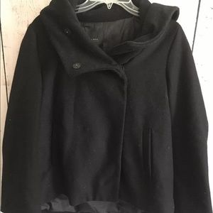 Zara Womens Cowl Neck Wool Swing Coat NWT New
